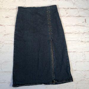 June Jean pencil denim skirt. Size Small